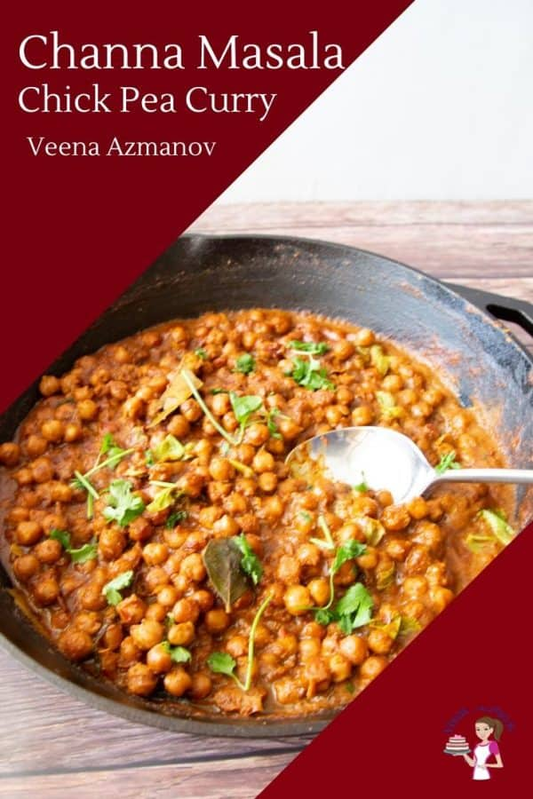 Indian Curry Masala Made with Chick peas in coconut milk