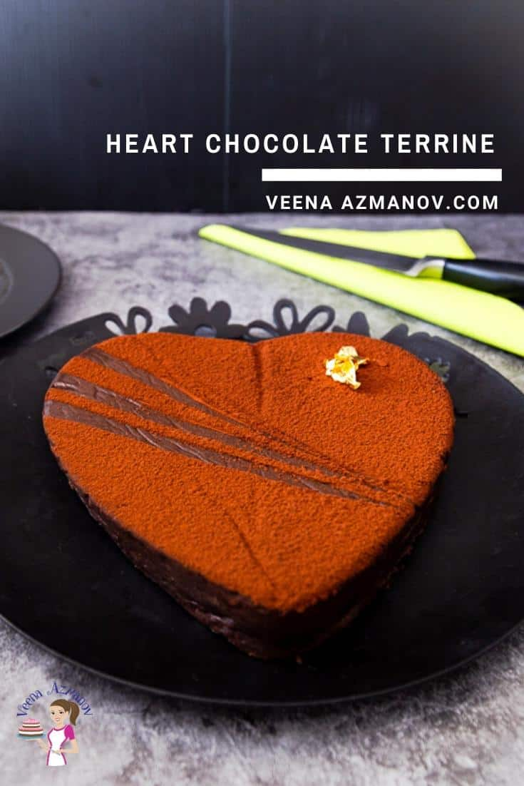 How to Make a Heart Shaped Terrine with Dark Chocolate