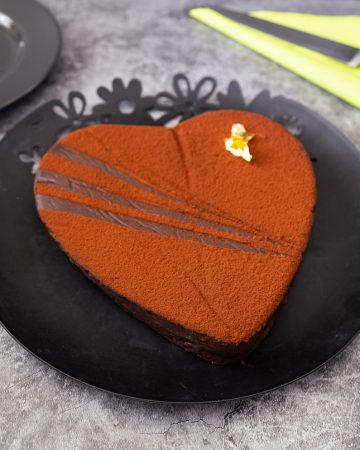 A chocolate terrine Valentine's Day dessert.
