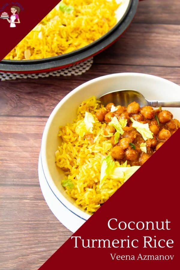Homemade Rice with Turmeric and Coconut Milk