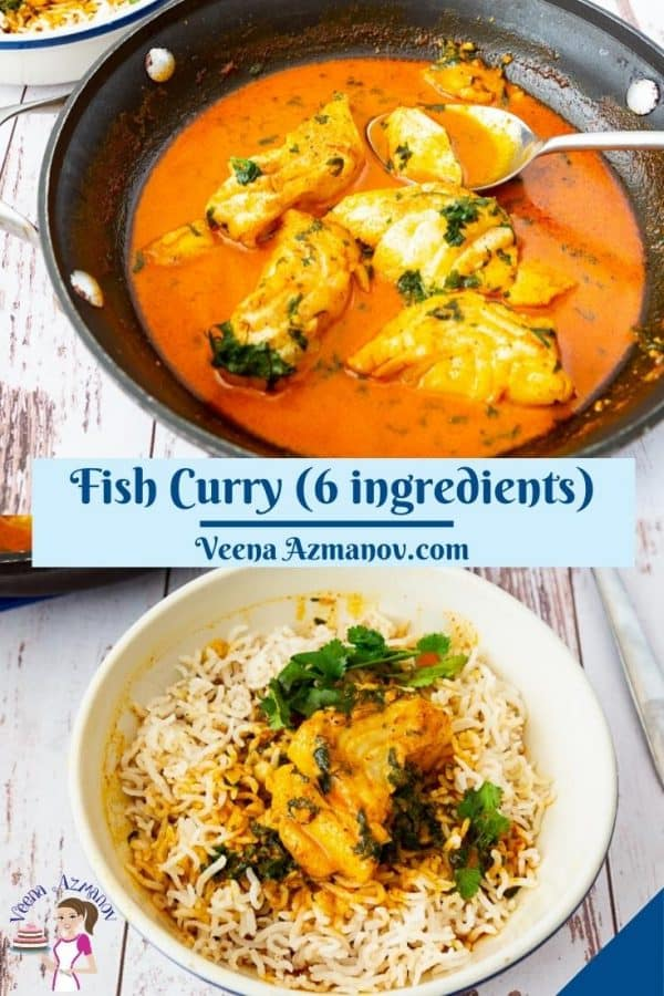 Pinterest image for curry fish.