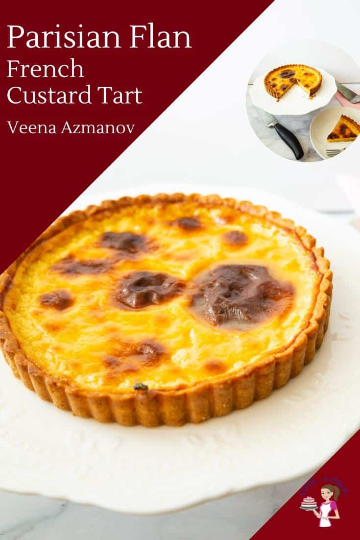 A French custard tart.