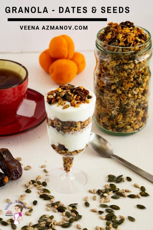 homemade Granola with Dates and Seeds