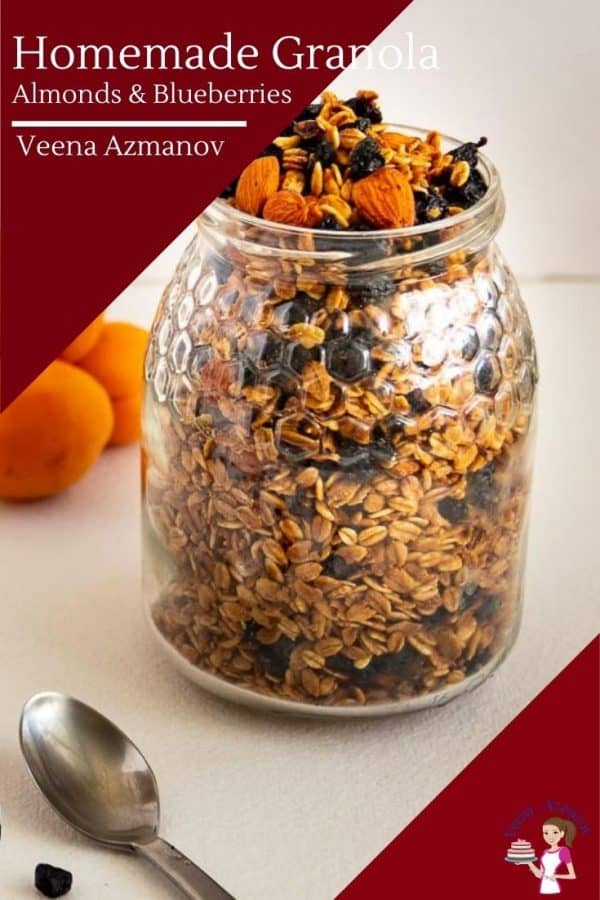 Homemade Granola with Blueberry and almond