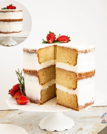 A Vanilla Cake Recipe with Madagascar Vanilla Beans and Vanilla Frosting