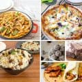 A collage of quick and easy recipes.