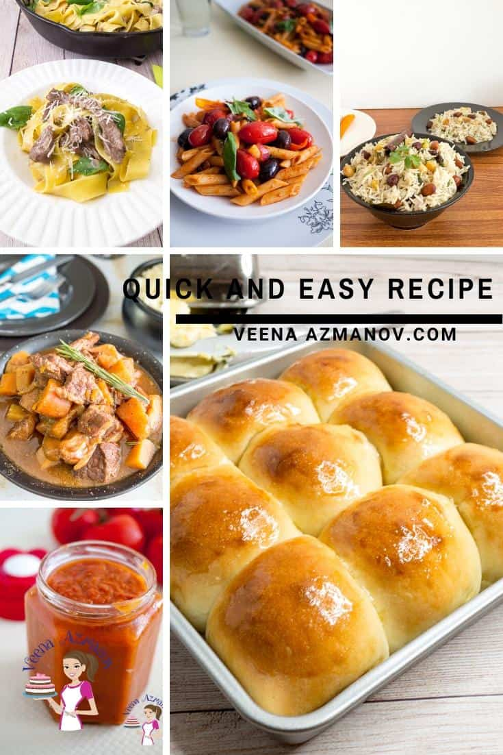 Today, I share with you 60 plus quick and easy recipes that take 15 to 20 minutes of cooking time. These are recipes you need to have on hand for busy days or days when you don't want to spend time in the kitchen such as hot summer days or quarantine days. #quickandeasy #easyrecipes #quickrecipes #caronavirusrecipes #quarantinerecipes #eamergencyrecipecollection via @Veenaazmanov