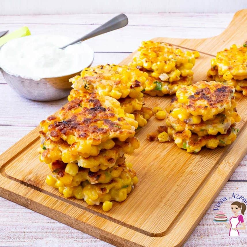 How to make homemade crispy fritters with corn