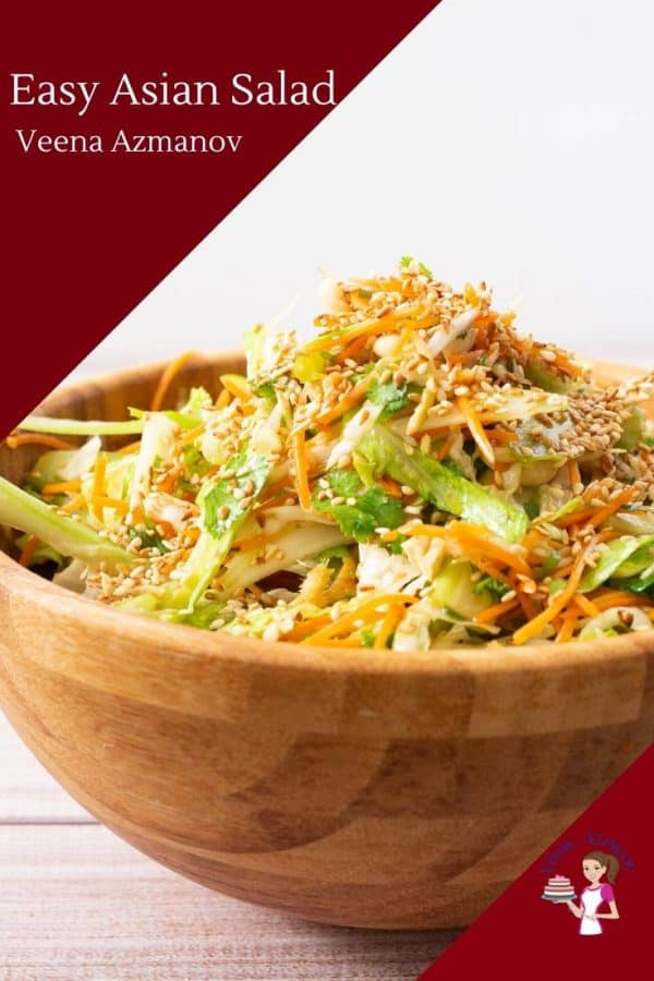 A bowl of Asian salad.
