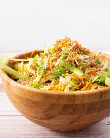 A bowl of asian salad.