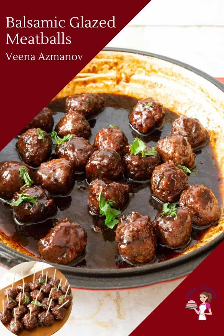 Homemade Meatballs with red wine and balsamic vinegar