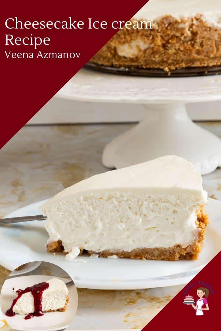 Homemade Ice Cream Cake with Vanilla Cheesecake Recipe