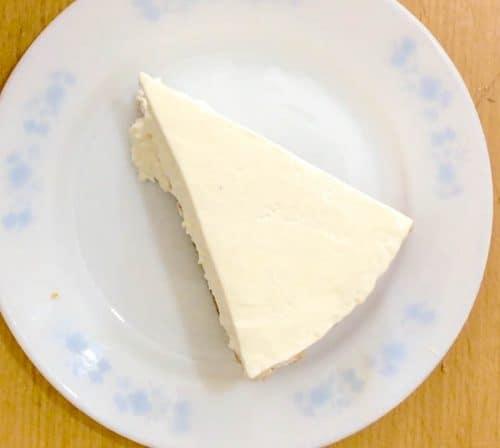 A slice of cheesecake ice cream