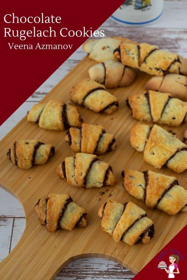 How to make rugelach, Jewish cream cheese cookies with chocolate