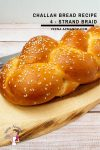 Homemade Braided Bread called Challah or Hala made with 4 strands