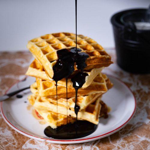 Homemade syrup made with chocolate