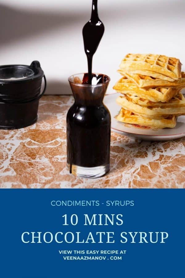 Pinterest image for breakfast syrup.