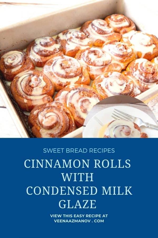 Pinterest image for cinnamon rolls.