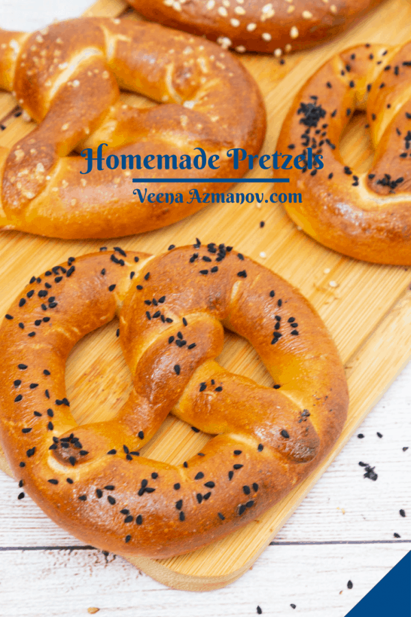 Pinterest image for pretzels.