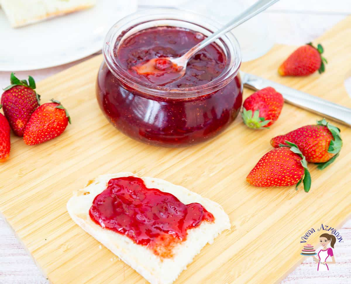 Easy Microwave Jam made with fresh strawberries in 20 minutes