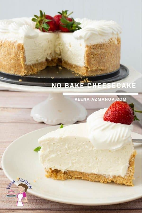 Cheesecake recipe from scratch, no-bake recipe, vanilla flavor