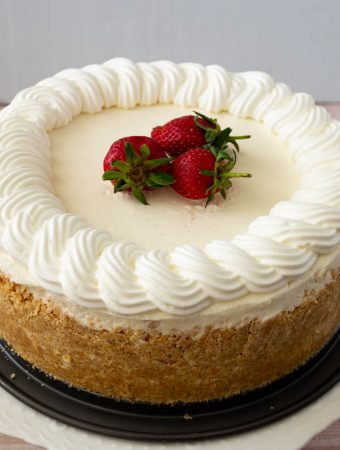 Cheesecake recipe from scratch, no-bake recipe, vanilla flavor