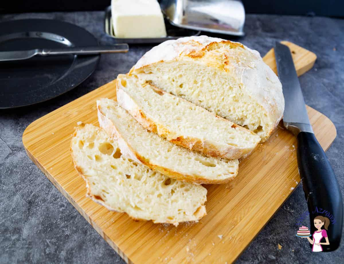 Homemade Bread - No Knead Recipe without a Dutch Oven