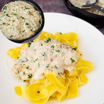 How to make chicken and pasta in 20 mins with white sauce