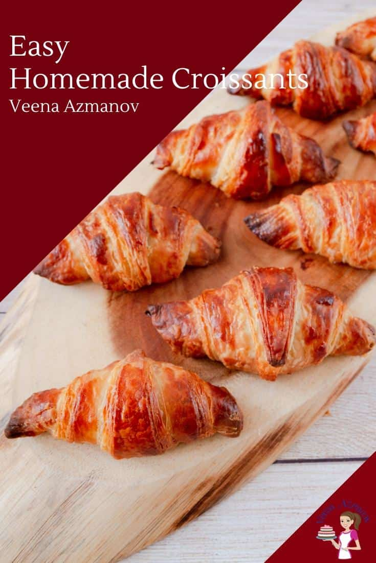 Learn to make Croissants from scratch at home with my step by step progress pictures