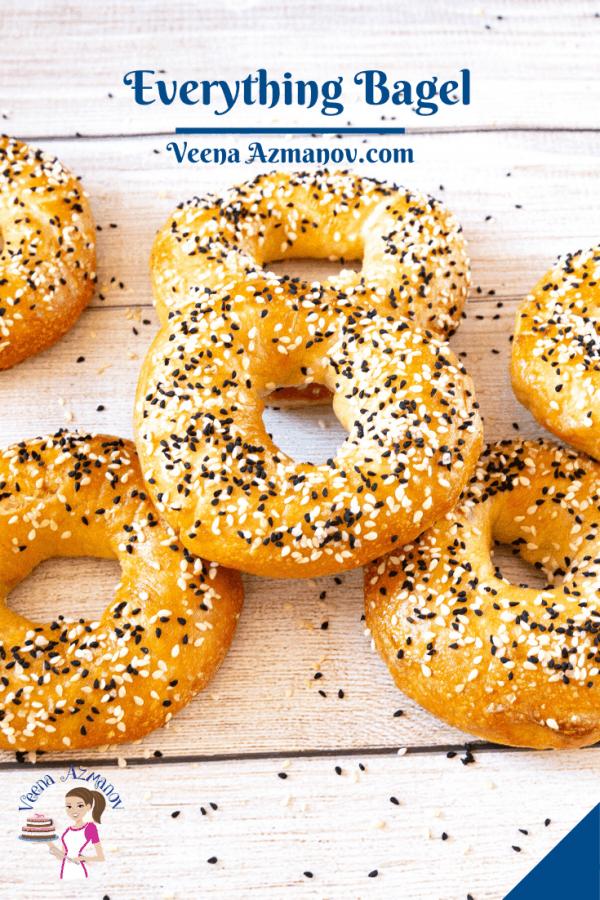 Pinterest image for bagels.