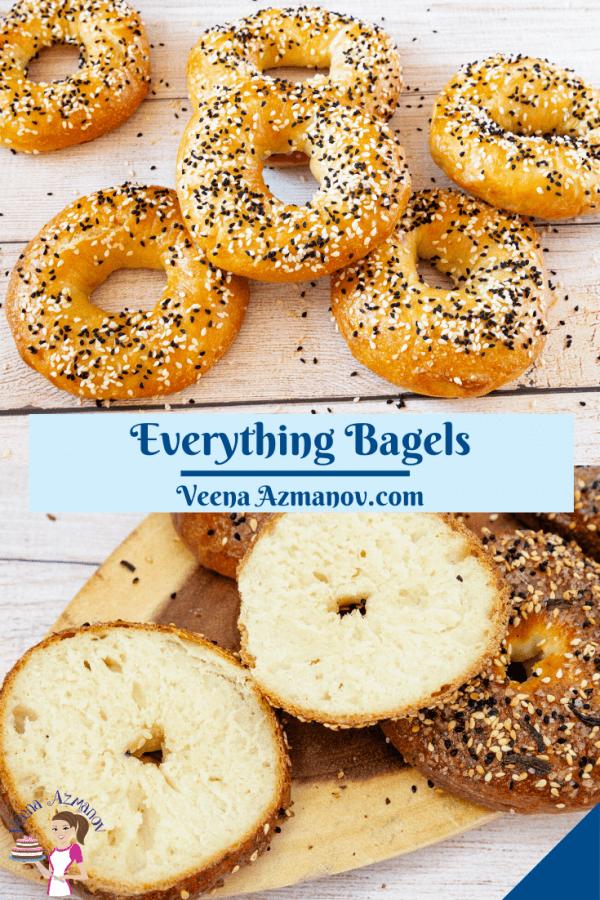 Pinterest image for bagels