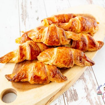 Learn to make croissants at home with classic ham and cheese