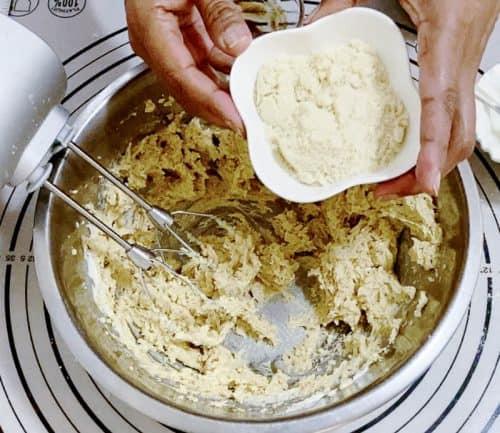 Add the hazelnut meal