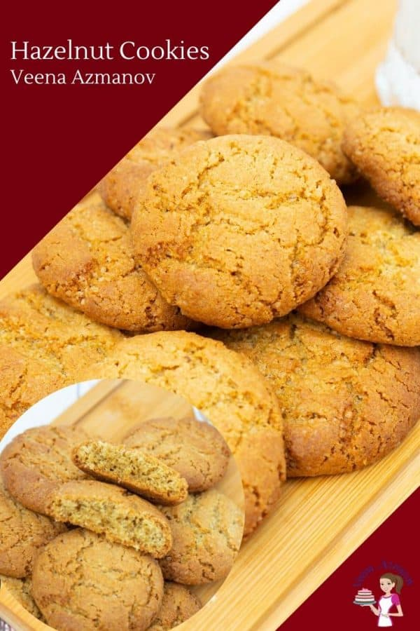 How to make homemade cookies with nuts such as hazelnuts