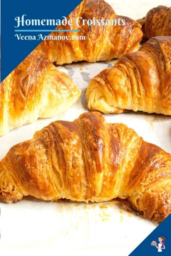 Pinterest image for croissants.