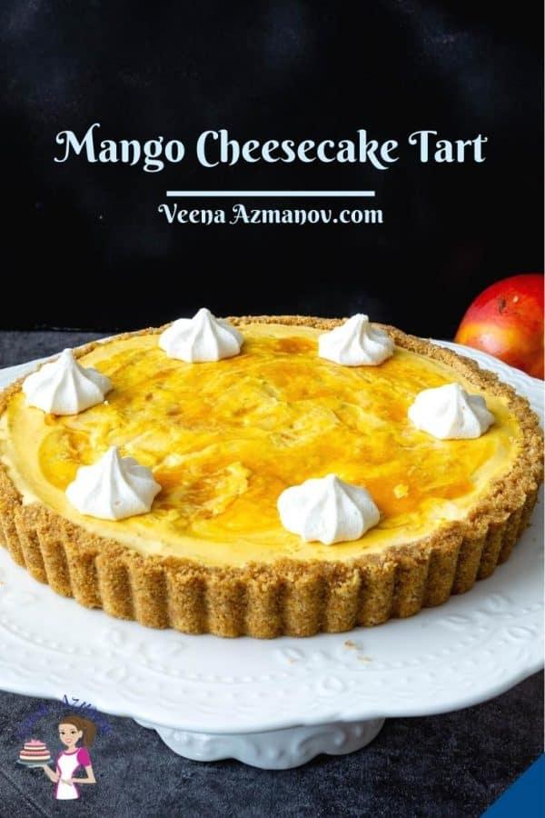 Pinterest image tart for cheesecake tart.