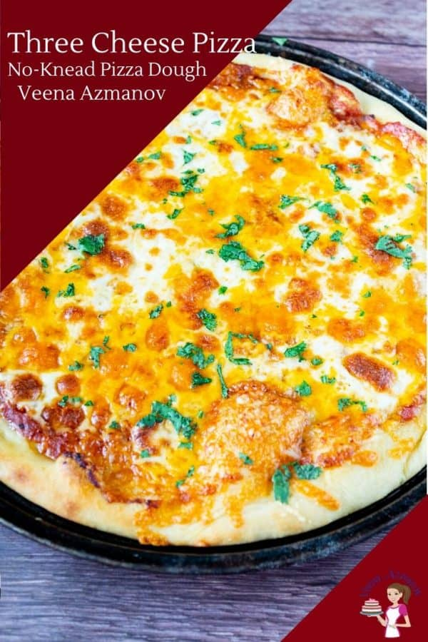 How to make homemade pizza with variety of 3 cheese