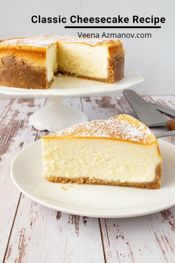 How to bake the best cheesecake at home with my step by step and video tutorial