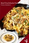 Homemade Enchilada with pasta and ground beef in just 15 minutes