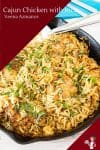 How to make a skillet chicken with rice using cajun spice