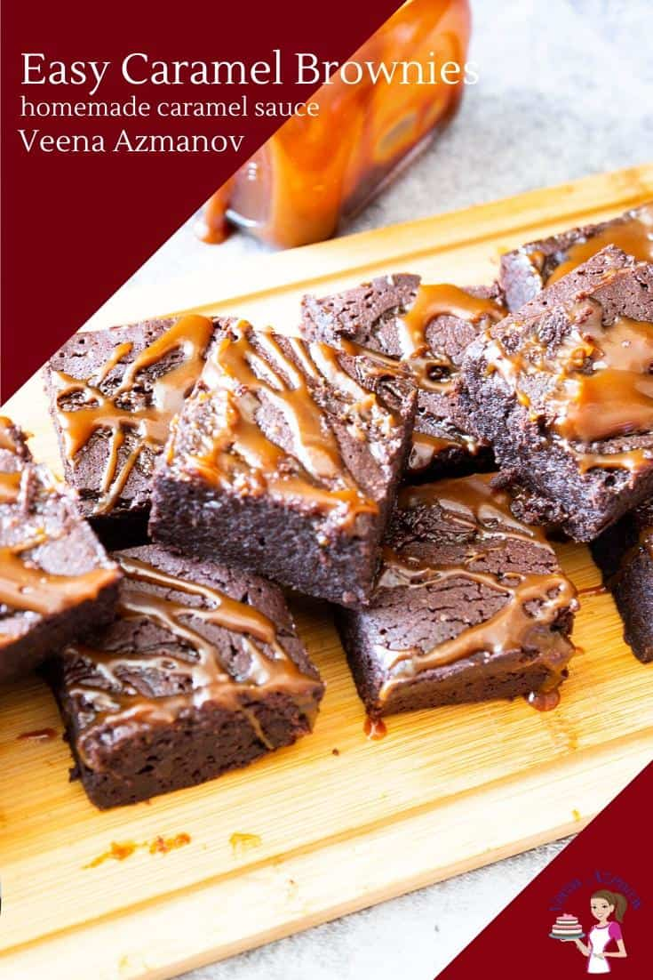 Take your classic chocolate brownies to the next level with these caramel brownies. Made from scratch with homemade caramel sauce these are the simplest and easiest treats any time of the year. #caramel #brownies #caramelbrownies #bestbrownies #bakingbrownies #brownierecipe #howtomakebrownies #cake #chocolatebrownies #chocolate  via @Veenaazmanov