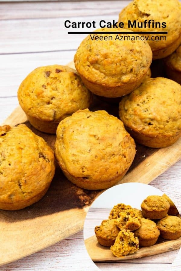 How to make homemade muffins with carrots, nuts and fruits