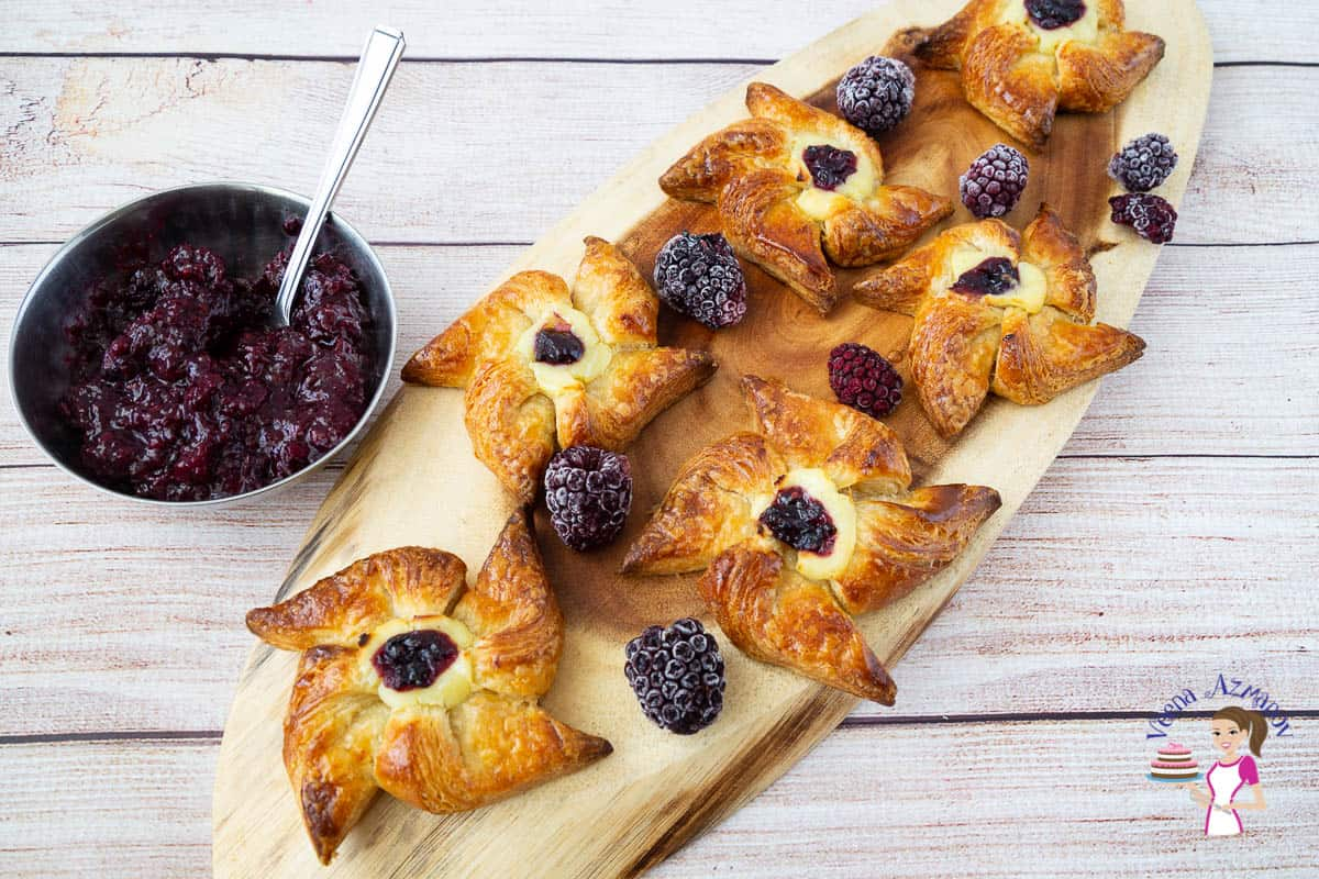 How to make Danish Pastry from Scratch - Jam Pinwheels