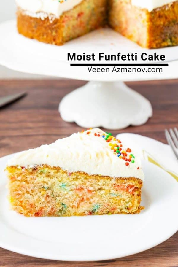 How to make a coffee cake with sprinkles in the batter called funfetti