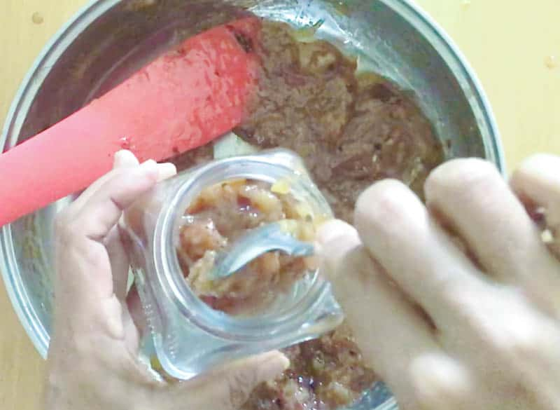 Pour the chutney into sterilized jars.