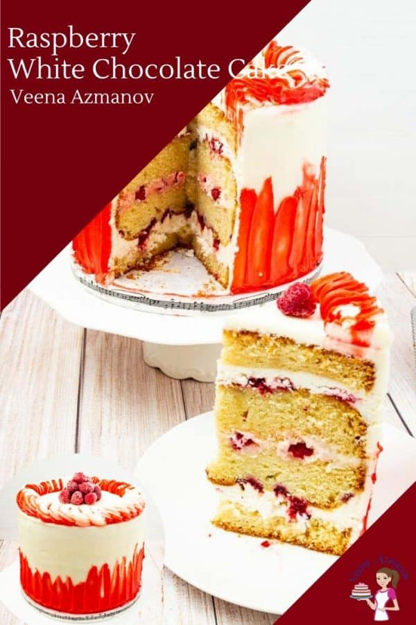 How to make a layer cake recipe with raspberries and white chocolate