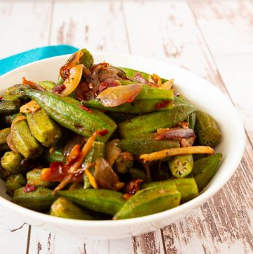 how to make okra sautéed with onions, garlic ginger