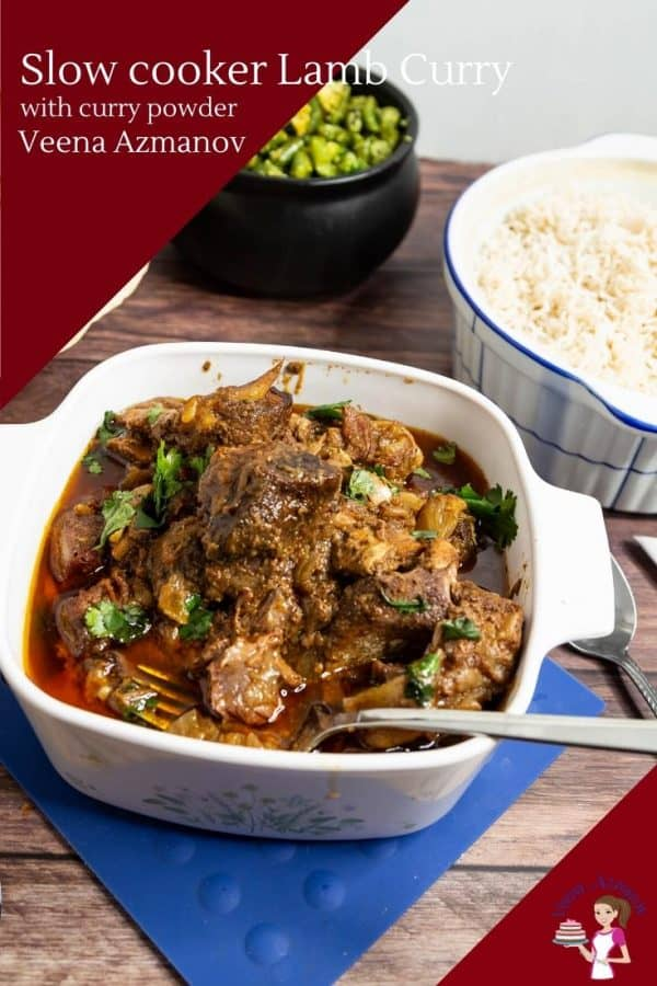 Indian Curry Recipe with Lamb, Curry Powder and Coconut Milk