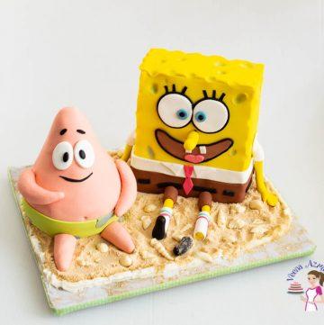 A SpongeBob and Patrick Star cake.
