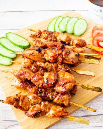 How to make chicken with Asian flavors on skewers in 15 mins
